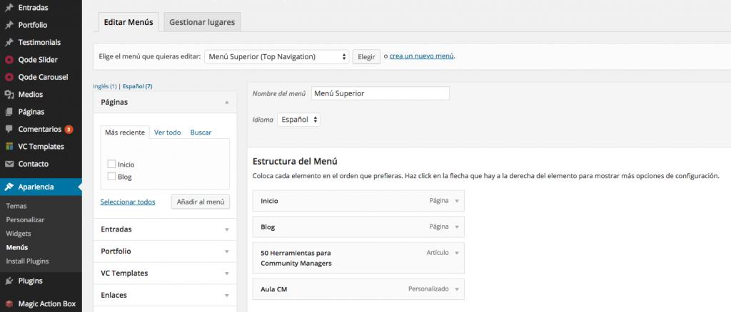 Instalar Configurar WordPress