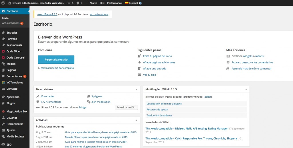 Instalar Configurar WordPress